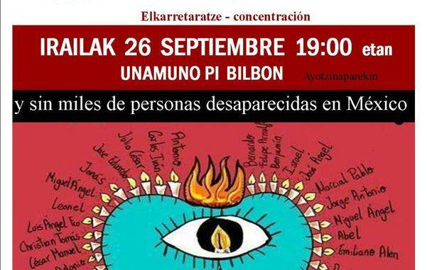 Concentración Ayotzinapa 26-9-2017