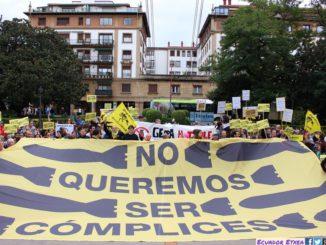 Concentración No queremos ser cómplices 17-9-2017 1