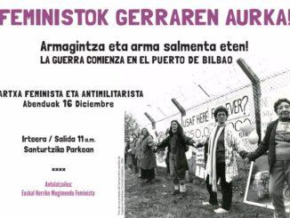 Feministok gerraren aurka 2017-12-16
