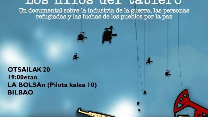 Hilos tablero poster